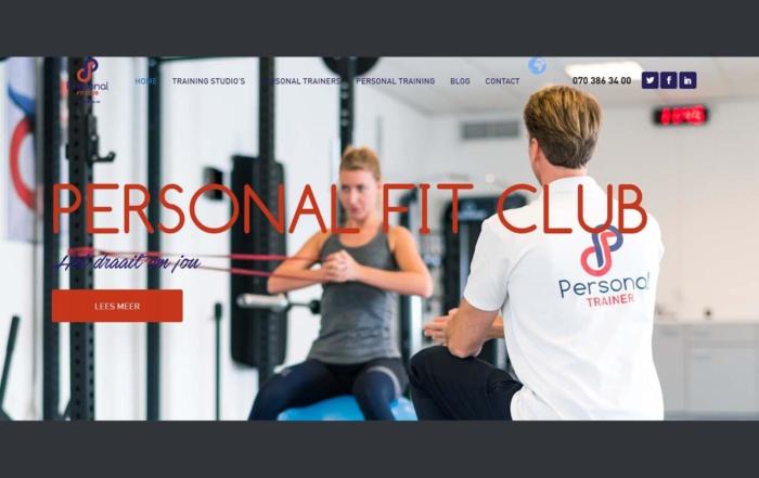 Hartman Werkt - website Personal Fit Club nieuw