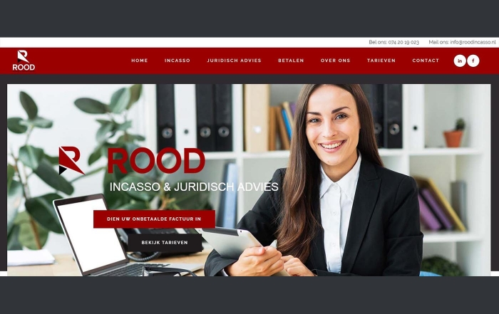 Hartman Werkt - website Rood Incasso en Juridisch Advies